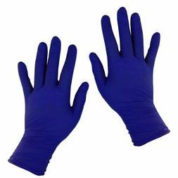 nitrile medical gloves disposable blue powder
