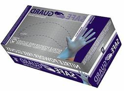 SAFEGUARD Nitrile Powder Free Gloves, Blue, Medium, 1000 Cou