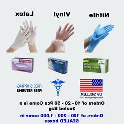 Nitrile / Vinyl Gloves Latex EXAMINATION Powder Free 50 / 10