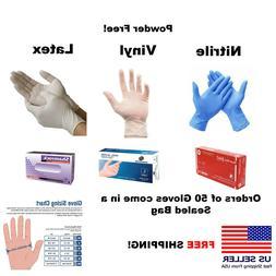Nitrile / Vinyl / Latex Gloves EXAMINATION Powder Free 50/10