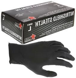 NitriShield Black Nitrile Gloves Powder Free 4 mil Industria