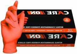 CARE ON ORANGE NITRILE PF Gloves ON50015 5- 5.5 mil - Size L