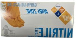 The Safety Zone Orange Nitrile Gloves Size Large W/ Texture