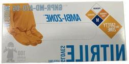 The Safety Zone Orange Nitrile Gloves Size Medium W/ Texture