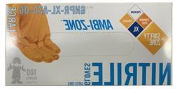The Safety Zone Orange Nitrile Gloves Size X-Large W/ Textur