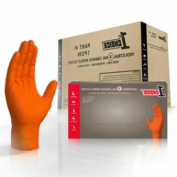 1st Choice Mechanic Latex Free Disposable Orange Nitrile 8 M
