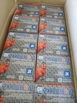 orange nitrile latex free disposable gloves xl