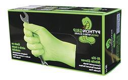 Python Grip 8 mil Hi-Vis Green Nitrile Gloves, Large, Box of