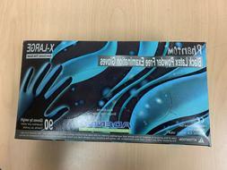 Adenna Phantom Black Latex Powder Free X-Large Gloves