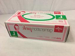Medline Pink Large Medical Powder Free Synthetic Vinyl Exam