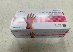 Pink Nitrile Exam Glove Powder Free, Size Medium, 250 Per Bo