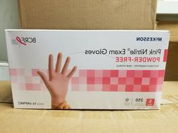 McKesson Pink Nitrile Exam Glove Powder Free , Size Small, 2
