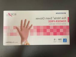 McKesson Pink Nitrile Exam Gloves Powder-free textured finge