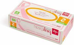 Medline Pink Pearl Powder Free Nitrile Exam Gloves w/ Aloe 1