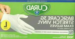 Curad powder- free exam gloves 3-100 ct boxes large gloves