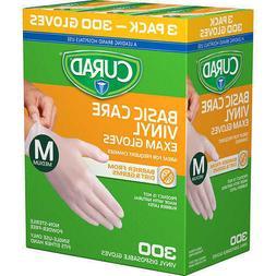 Curad Powder-free Exam Gloves, Vinyl-100 Each  Medium