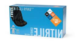 The Safety Zone Powder Free Black Nitrile Gloves - GNPR-LG-1