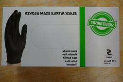 SupplyMaster Powder Latex Free Black NITRILE Exam Gloves Siz