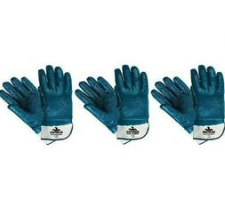 Predator Premium Nitrile-Coated Gloves, Blue/White, Large, 1