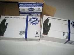 SupplyMaster Premium Black Nitrile Exam Disposable Gloves -