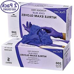 ProCure Disposable Nitrile Gloves – Powder Free, Rubber La