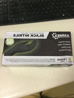 Ammex Professional Series Black Nitrile Gloves Size Small 10
