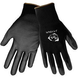 Global Glove PUG17 Polyurethane/Nylon Glove, Work, Large, Bl