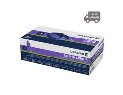 purple powder free exam gloves disposable l