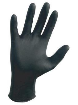 SAS Safety Raven Powder Free Black Nitrile Gloves - Small -