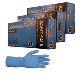 High Risk Heavy Duty 8-10 Mil Nitrile Gloves, Powder Free Si