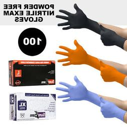 Rubber Gloves Powder Free Nitrile 1 Pack 100 Count Strong Me