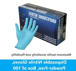 Dynarex Safe Touch Blue Nitrile Exam Gloves, Powder-Free, ME