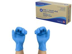 Dynarex Safe Touch Blue Nitrile Exam Gloves Powder Free - Se