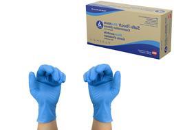 safe touch blue nitrile exam gloves powder