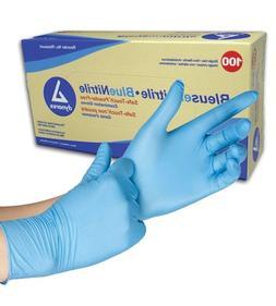 100x nitrile exam gloves