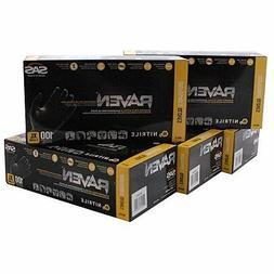 SAS66519 SAS Safety Raven Powder Free Black Nitrile Gloves -
