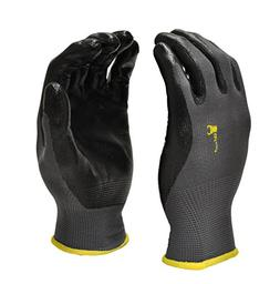 G & F 15196L Seamless Nylon Knit Nitrile Coated Work Gloves,