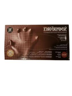 SemperForce, Nitrile Examination Gloves Black, Box of 100, M