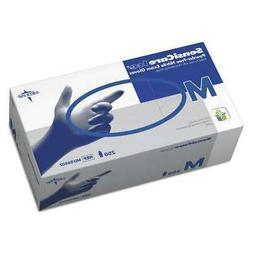 Medline SensiCare Ice Blue Nitrile Exam Gloves MDS6802