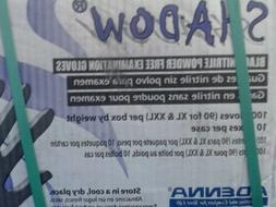 Adenna Shadow 6 mil Black Nitrile Powder Free Exam Gloves X-