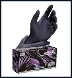 Adenna Shadow Black Nitrile Powder-Free Exam Gloves Small Ca