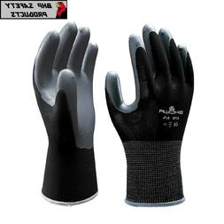 SHOWA ATLAS FIT 370 BLACK NITRILE GARDENING WORK GLOVES
