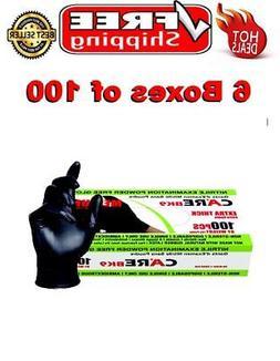 Skintx Care Medical Grade Nitrile Disposable Gloves Black S