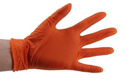 SKINTX CARE ON ON50010-M-BX Orange Nitrile Exam Gloves, Powd