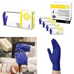 indigo nitrile exam disposable gloves 4 mil