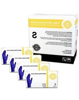 SupplyMaster SMINE4S Nitrile Exam Gloves -Disposable Powder