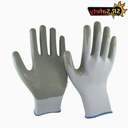 SRSAFETY 6 pairs 13g nylon <font><b>Nitrile</b></font> Coate