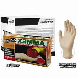 AMMEX Stretch Synthetic Ivory Vinyl Latex Free Disposable Gl