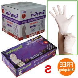 sunnycare 8001 white nitrile disposable gloves powder
