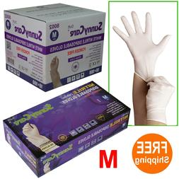 SunnyCare® #8002 White Nitrile Disposable Gloves Powder Fre